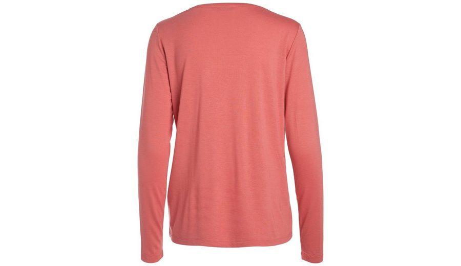 Finden Online-Großen Verkauf Für Schöne Online Pieces Robuste Langarm-Bluse mit Rundhalsausschnitt Pay Online Mit Visa G0Imfx9