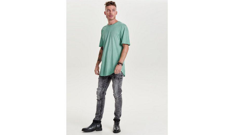 ONLY & SONS Warp 24 washed black Skinny Fit Jeans Günstig Kaufen Modisch aYlrrQqpK7