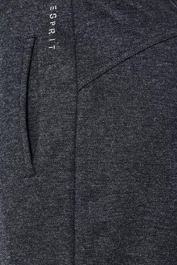 ESPRIT Jogg-Pants aus festerem, meliertem Jersey