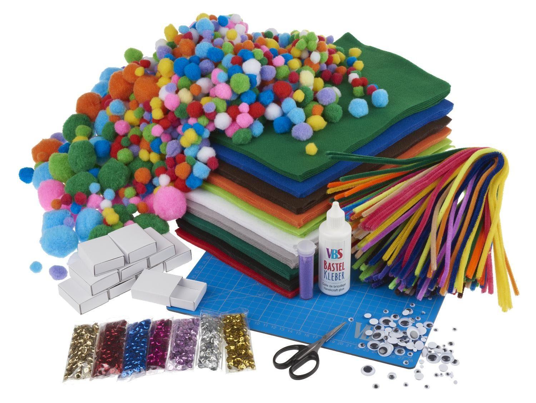 "VBS Bastelmaterial Hobby-Box ""Bastel-Mix"" mehr als 1000 Teile"