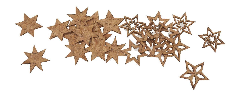 VBS Kork-Sterne, mit Klebepunkt, 24 Stück