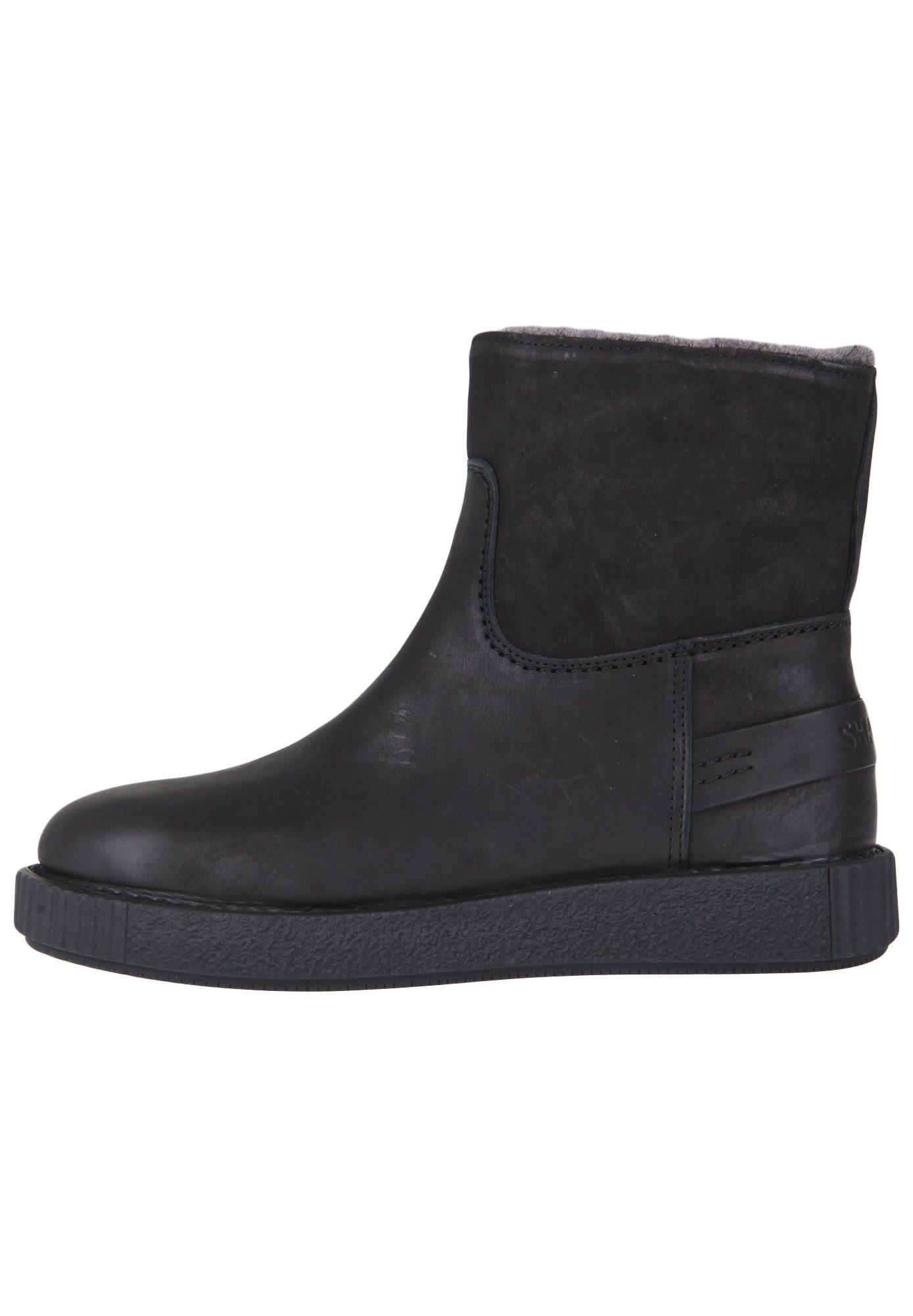 Shabbies Amsterdam NEW BOOTY Stiefelette, zusätzliche Innensohlen aus Leder online kaufen  black