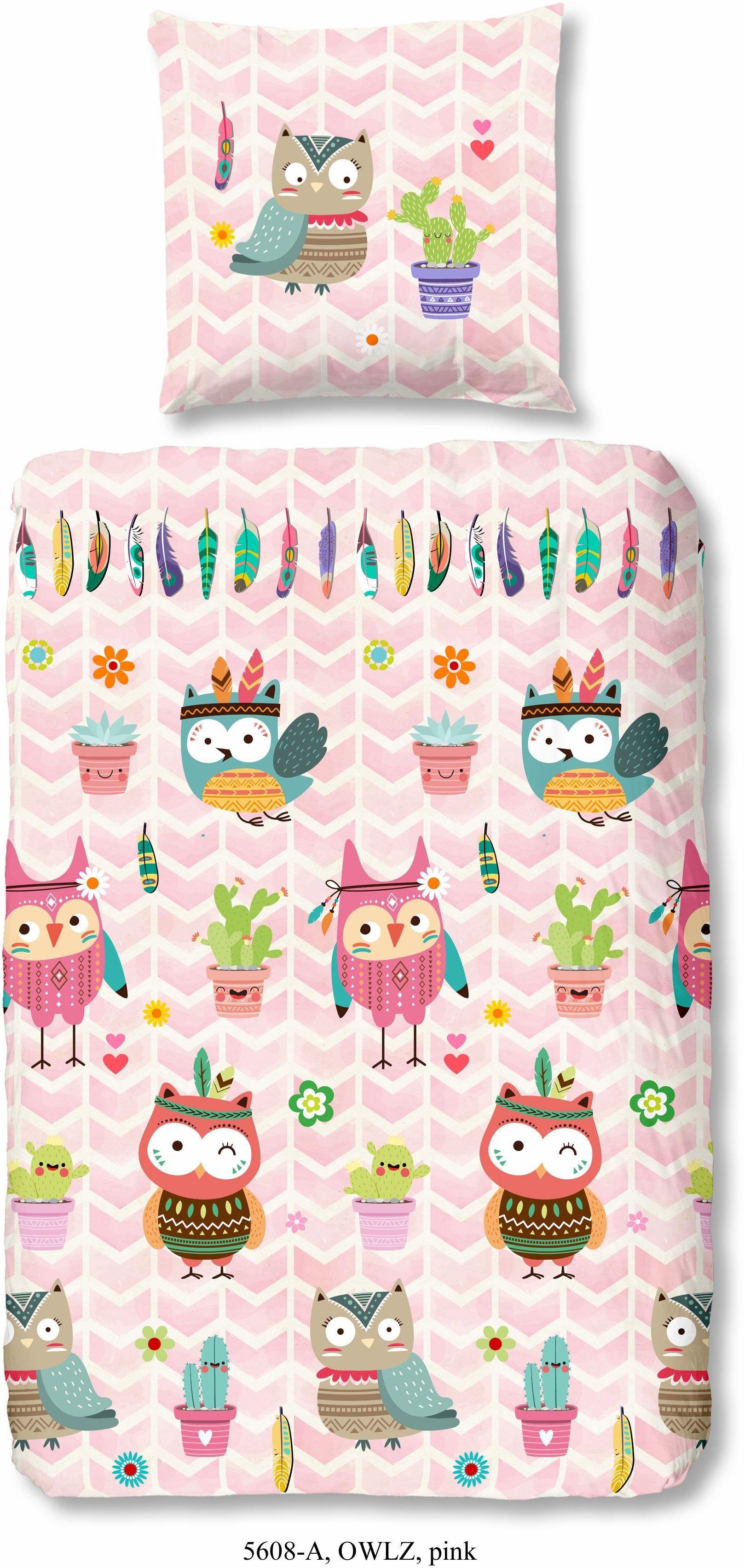 Kinderbettwäsche »Owlz«, good morning, mit Eulenmotiv
