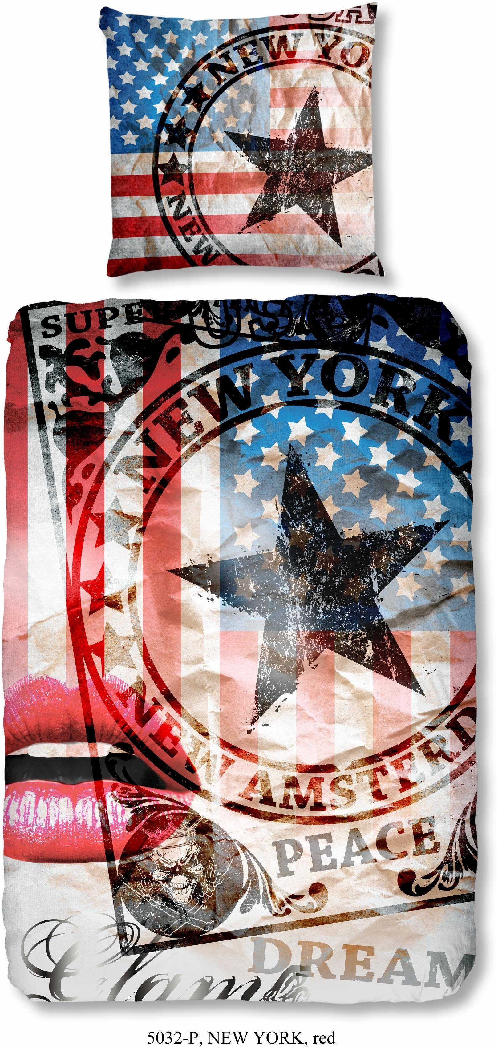 Kinderbettwäsche, Good Morning, »New York«, im Amerika Design