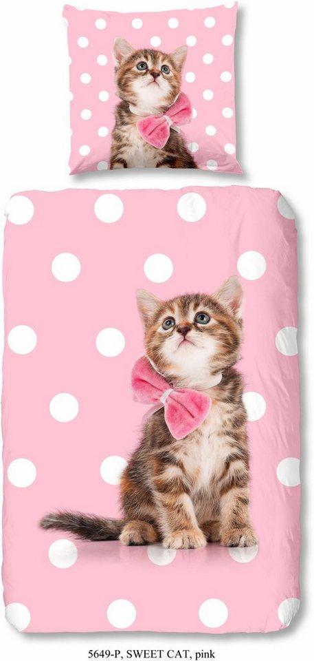 kinderbettw sche good morning sweet cat mit katzenmotiv online kaufen otto. Black Bedroom Furniture Sets. Home Design Ideas