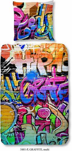 Kinderbettwäsche »Graffiti«, good morning, im Graffitidesign