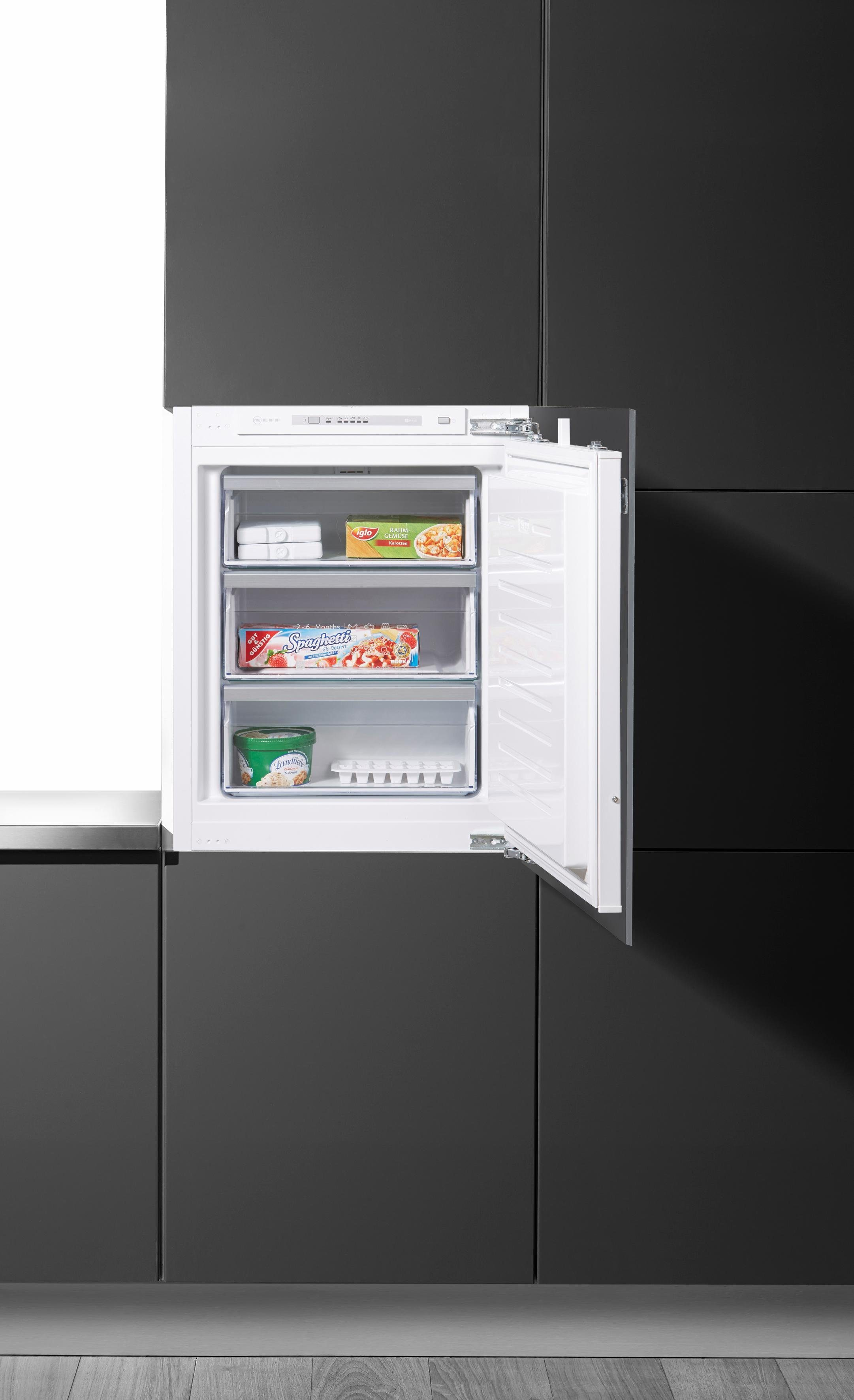 NEFF Einbaugefrierschrank G146A2 / GI1113D30, 71,2 cm hoch, 55,8 cm breit