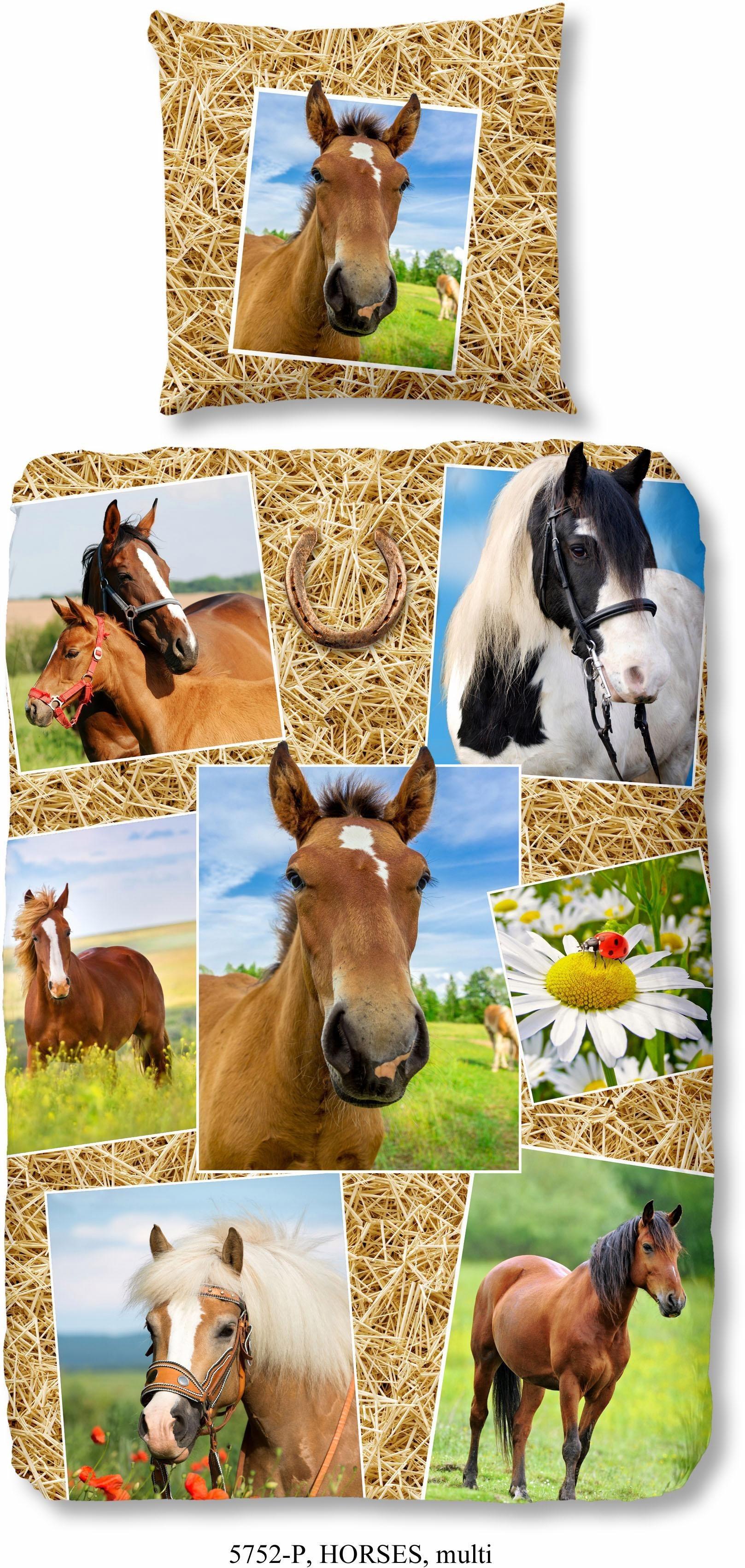 Kinderbettwäsche »Pferdestall«, good morning, mit Pferdemotiven | Kinderzimmer > Textilien für Kinder > Kinderbettwäsche | good morning
