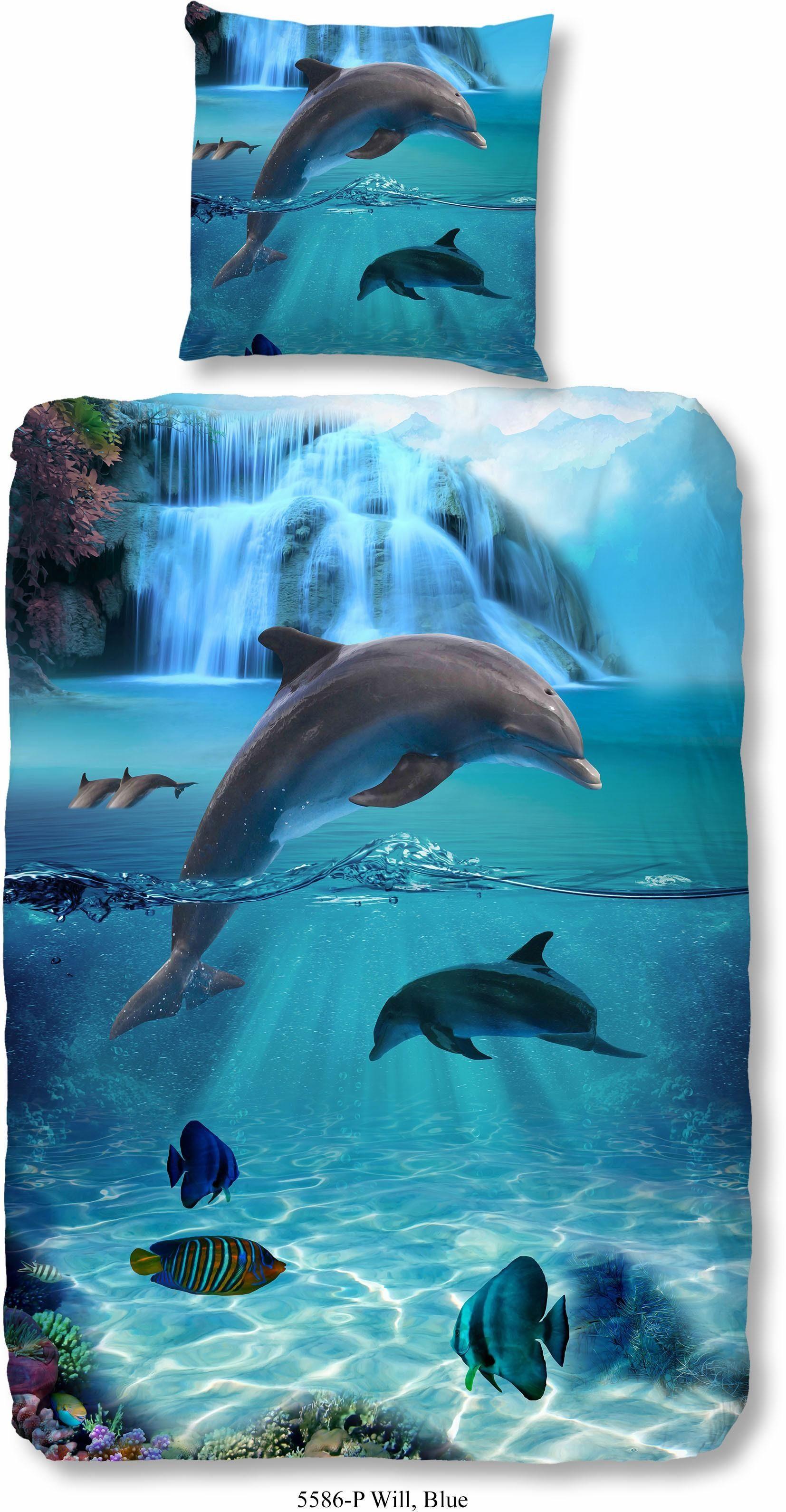 Kinderbettwäsche, Good Morning, »Flipper«, mit Delfinmotiv