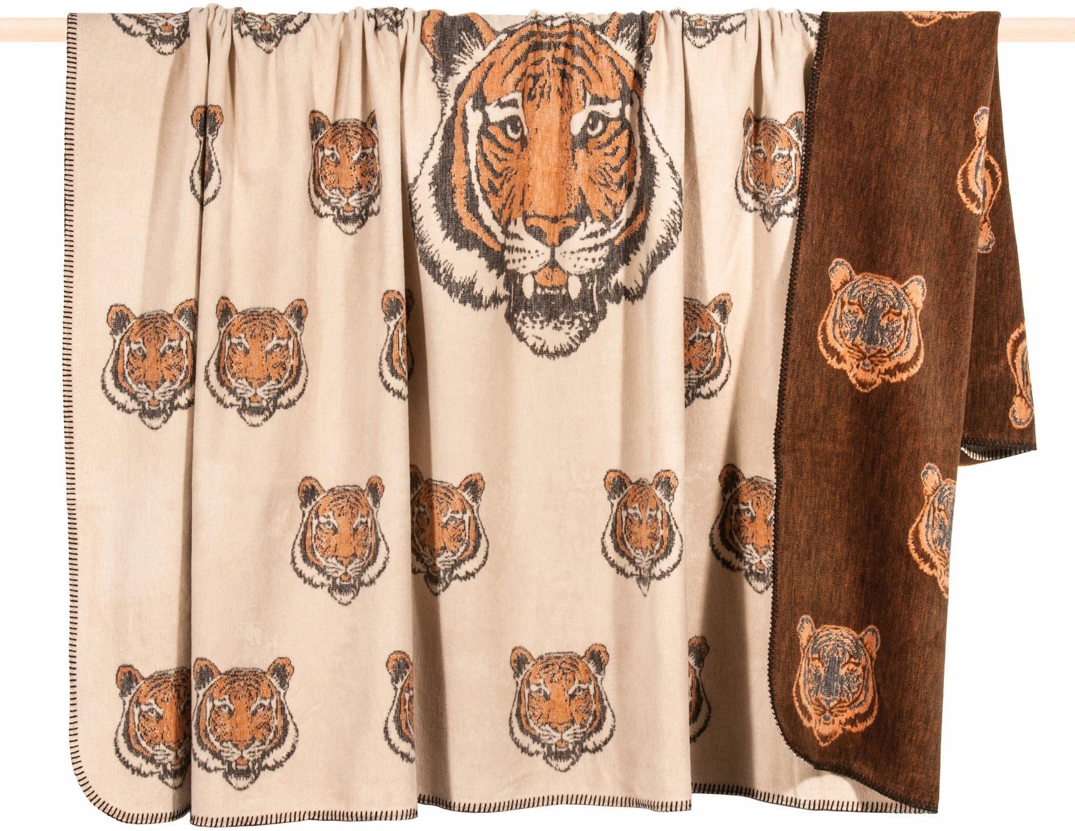 Wohndecke, PAD, »Simba«, mit Tiger Motiv