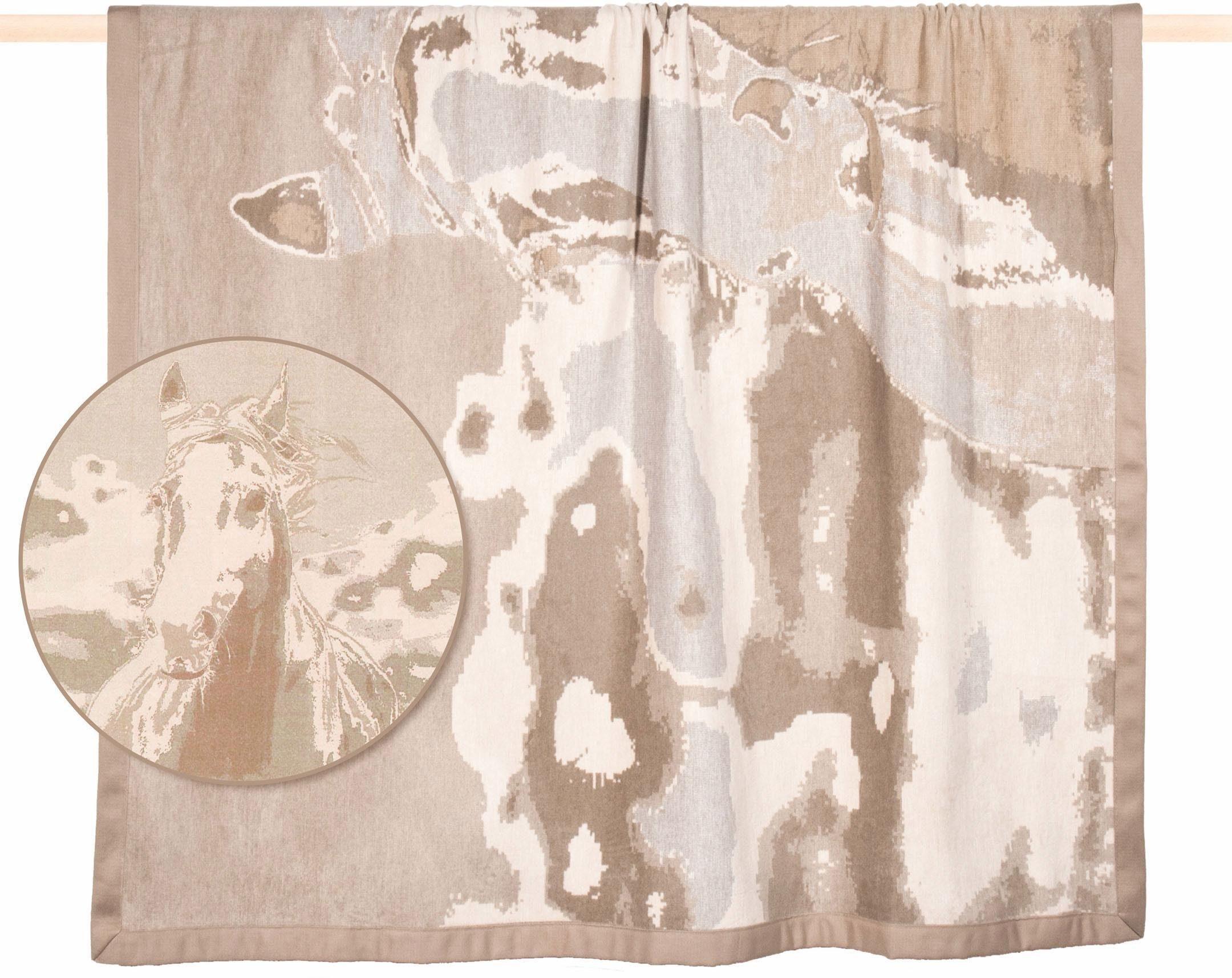 Wohndecke, PAD, »Horse«, mit Pferde Motiv