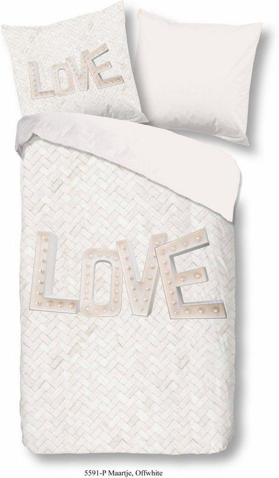 wendebettw sche maartje good morning mit schriftzug online kaufen otto. Black Bedroom Furniture Sets. Home Design Ideas