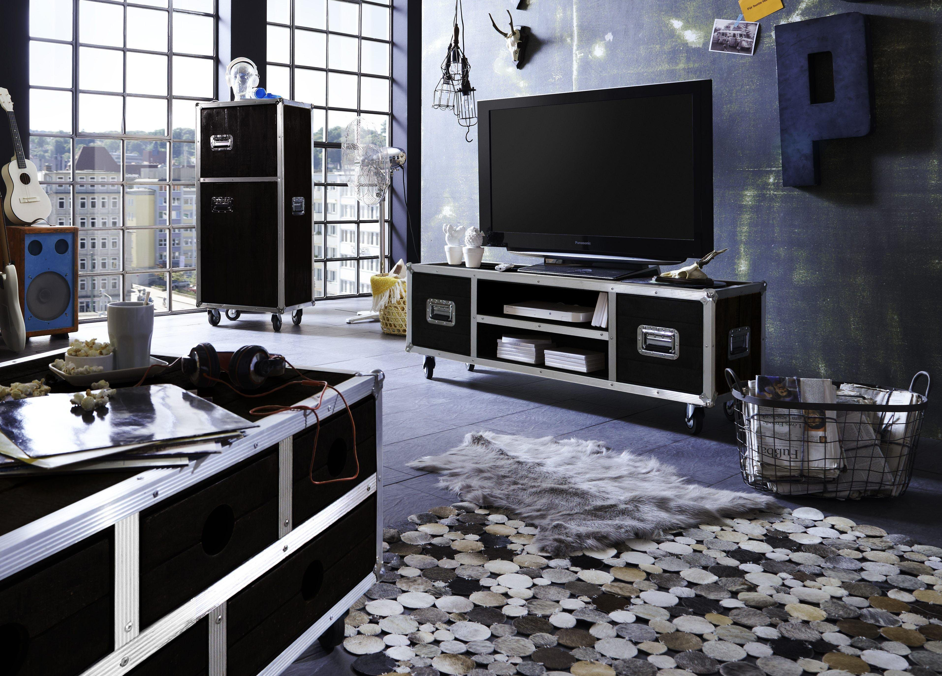 tv lowboard mit rollen preisvergleich die besten. Black Bedroom Furniture Sets. Home Design Ideas
