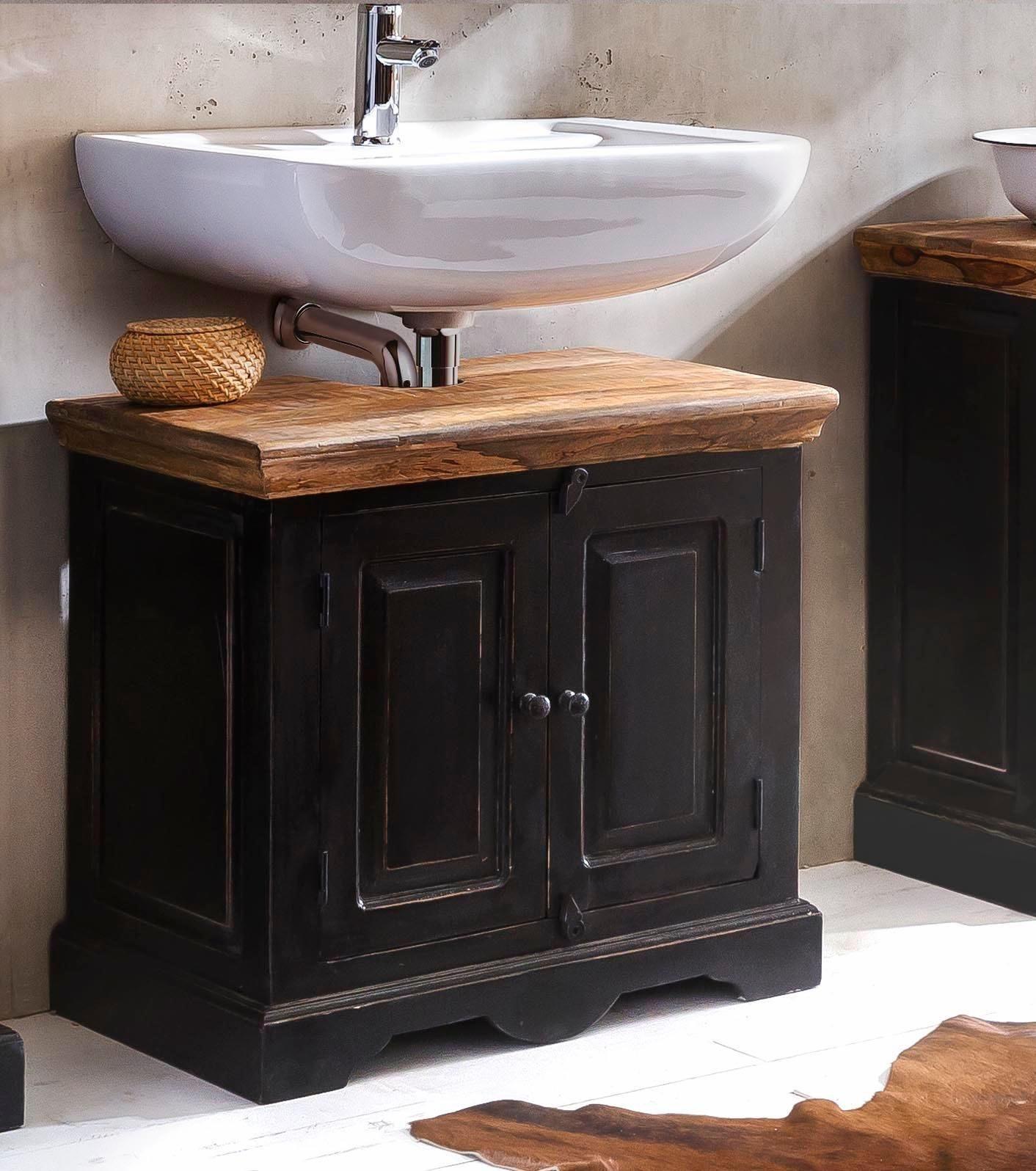 SIT Bad-Unterschrank »Corsica«, mit zwei Türen, Breite 66 cm   Bad > Badmöbel > Waschbeckenunterschränke   Massivholz - Mangoholz - Holzwerkstoff   SIT