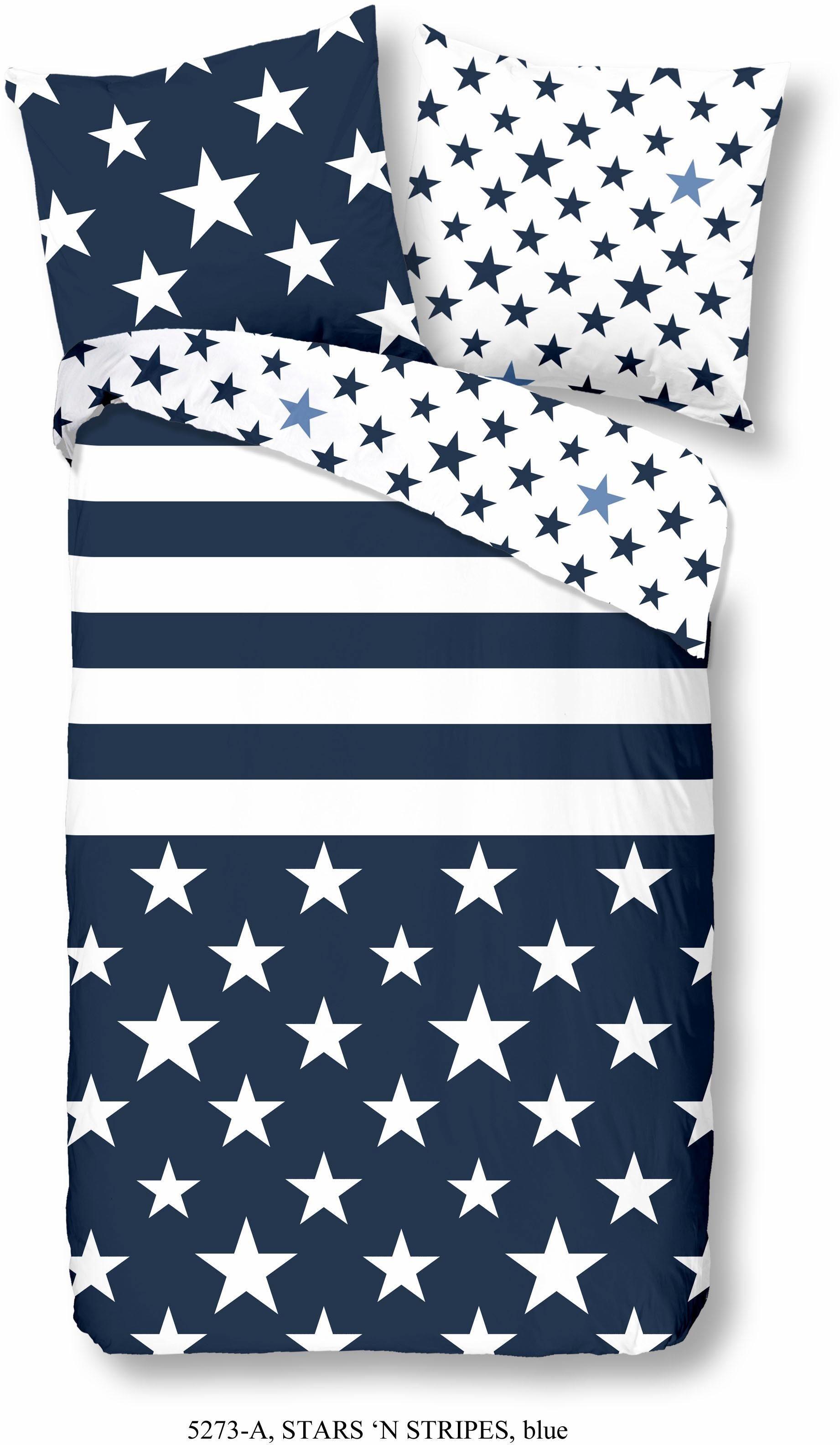Wendebettwäsche, Good Morning, »Stars 'n stripes«, mit Sterne und Streifen