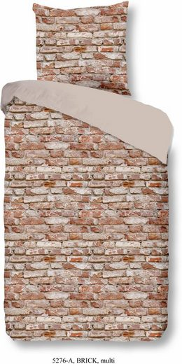 Wendebettwäsche »Brick«, good morning, in Mauerdesign