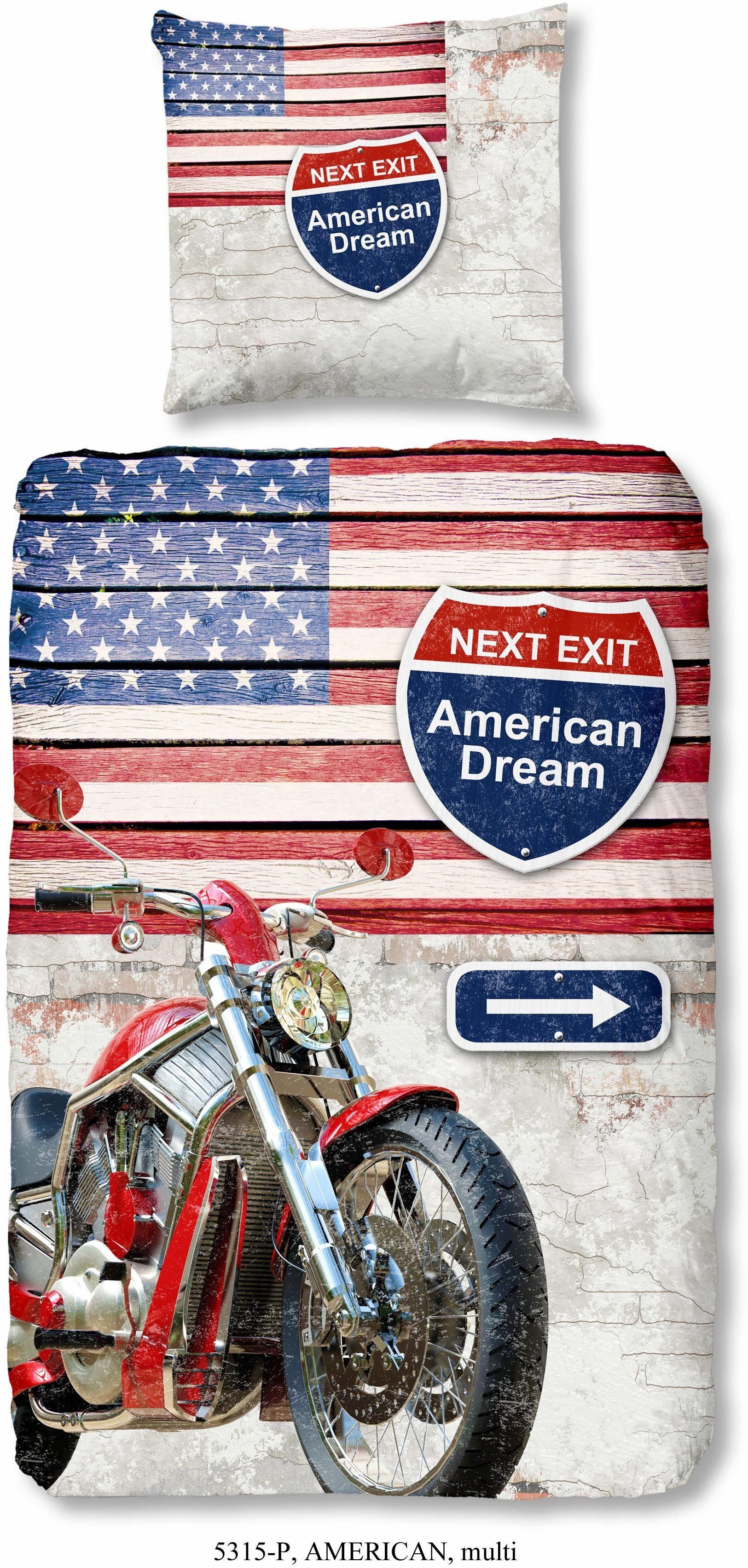 Kinderbettwäsche »Dream America«, good morning, im Amerika Design
