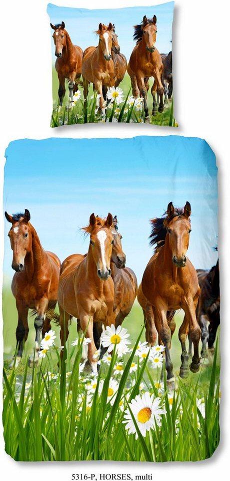 Kinderbettwasche Horses Good Morning Mit Pferdemotiv Online Kaufen Otto