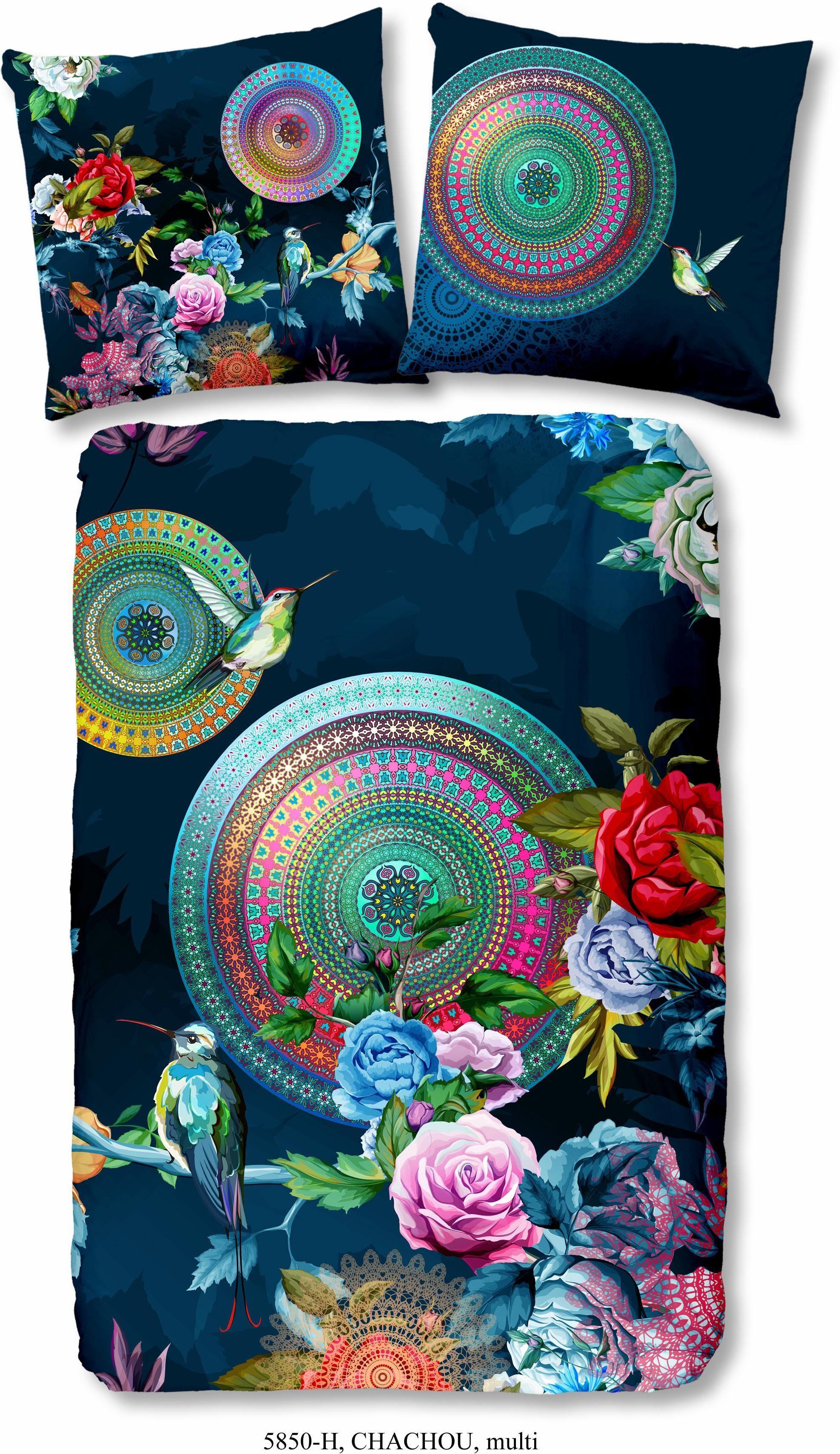 Bettwäsche »Chachou«, hip, mit Blumenmuster
