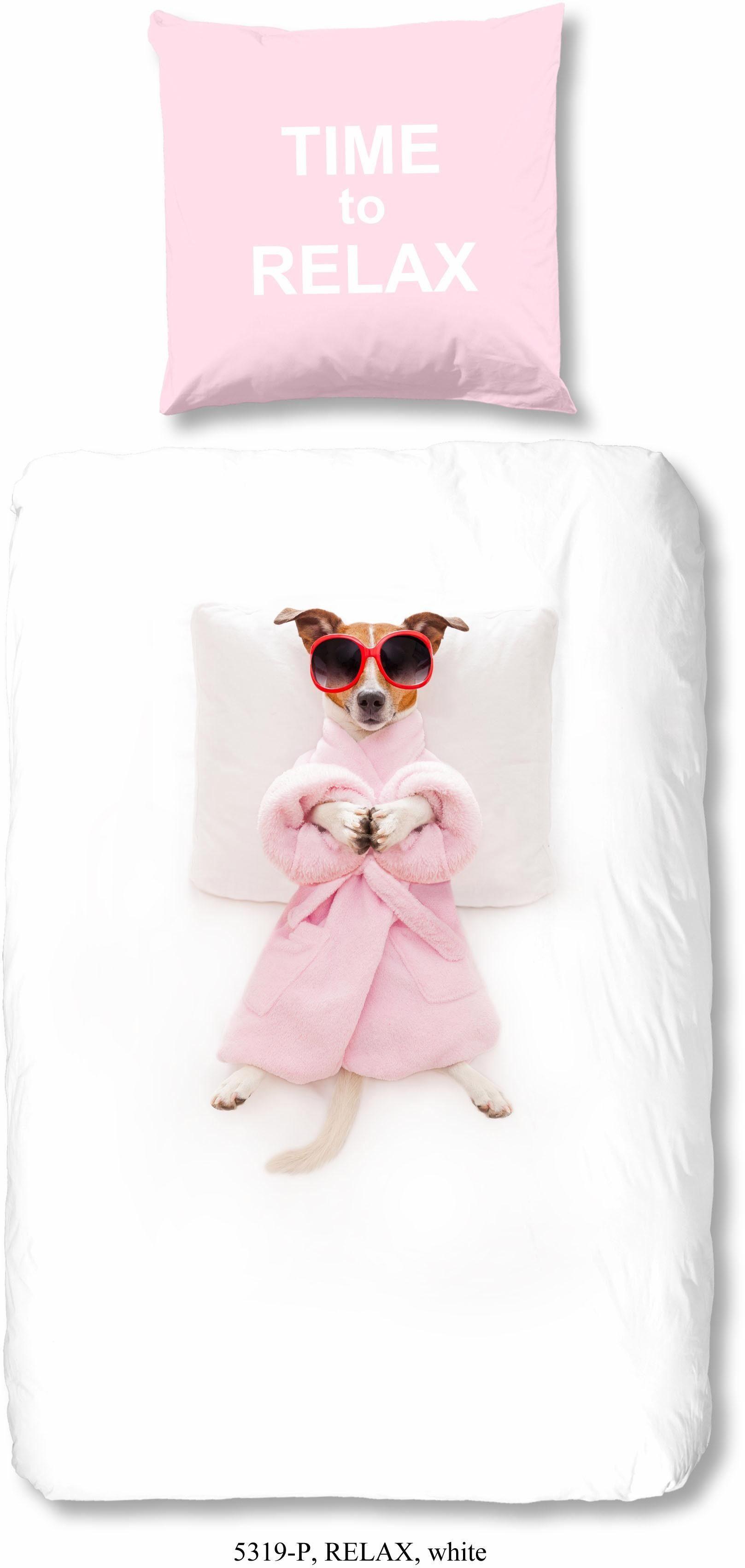 Kinderbettwäsche »Relax«, good morning, mit Hundemotiv