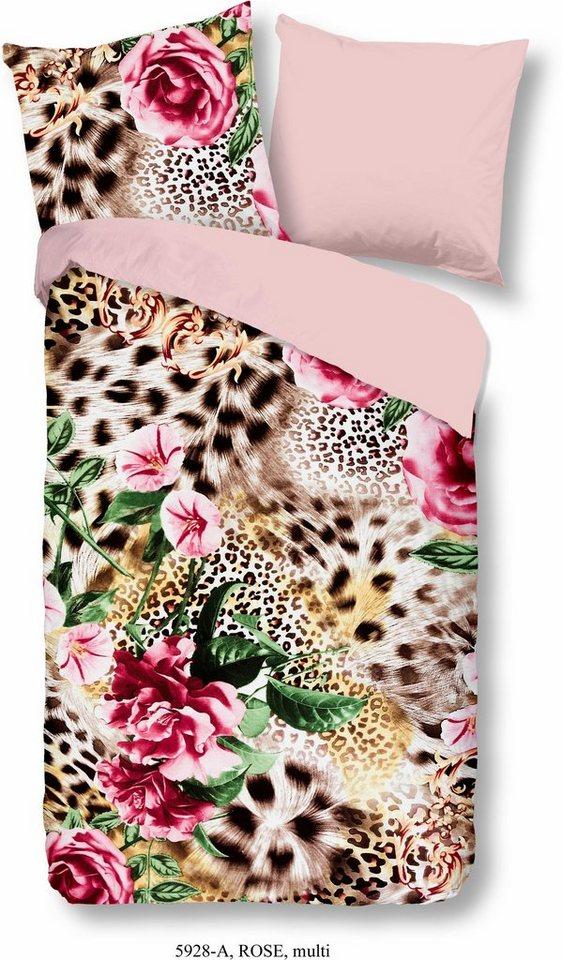 Wendebettwasche Good Morning Leo Rose In Leoparddesign Online Kaufen Otto
