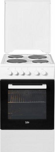 BEKO Platten-Standherd FSE56000GW, mit Grillfunktion