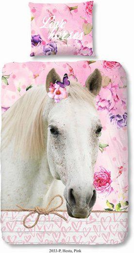 Kinderbettwäsche »Hesta«, good morning, mit Pferdemotiv