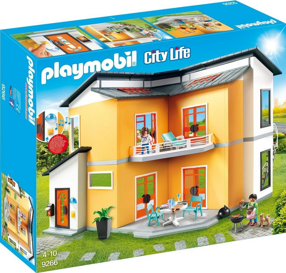 Playmobil modernes wohnhaus 9266 city life otto for Playmobil modernes haus 9266