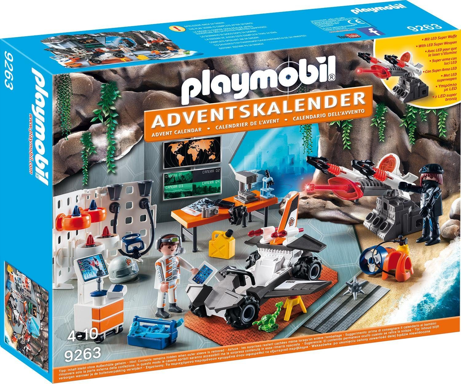Playmobil® Adventskalender »Spy Team Werkstatt« (9263), »Christmas«