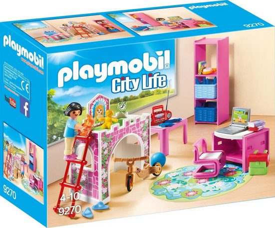 Playmobil® Konstruktionsspielsteine »Fröhliches Kinderzimmer (9270), City Life«