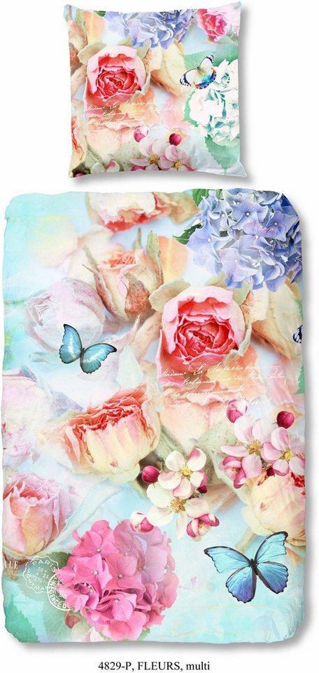 bettw sche good morning fleurs mit blumenmuster online kaufen otto. Black Bedroom Furniture Sets. Home Design Ideas