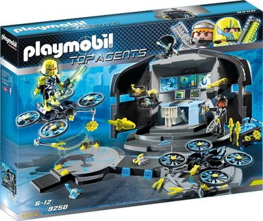 Playmobil® Konstruktionsspielsteine »Dr. Drone's Command Center (9250), Top Agents«