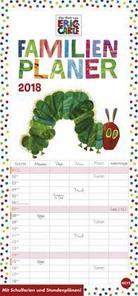 Kalender »Die kleine Raupe Nimmersatt Familienplaner -...«