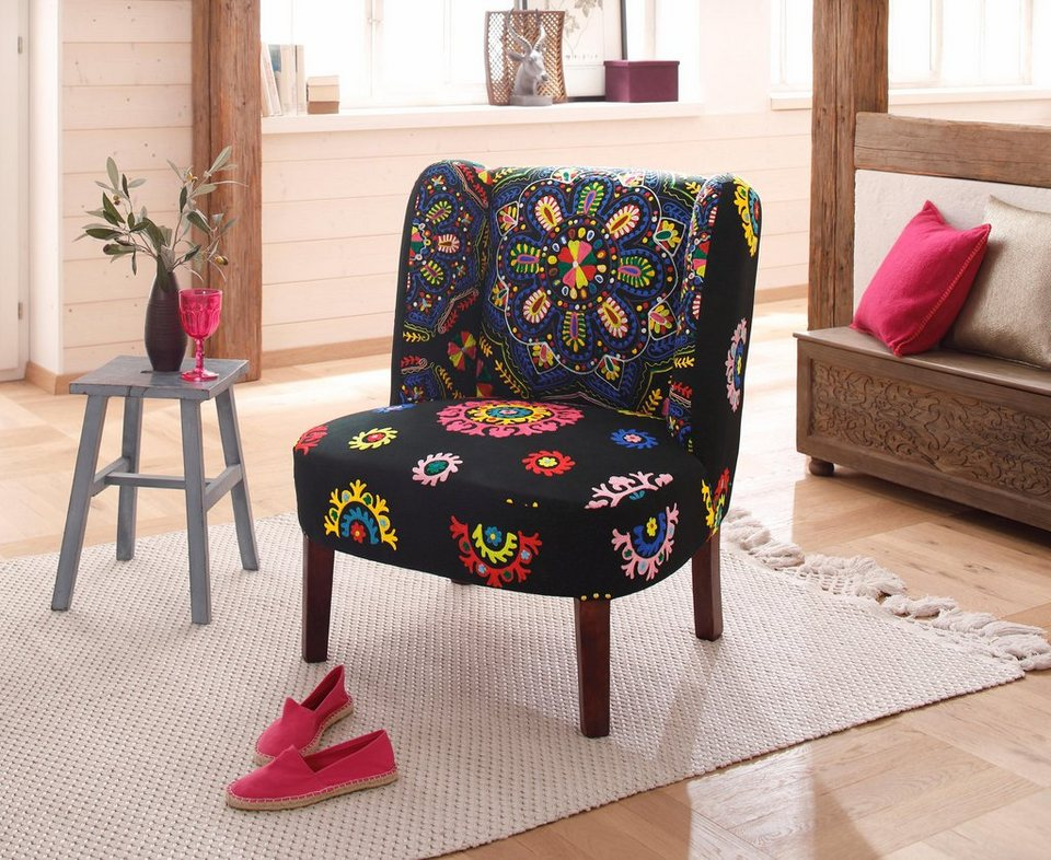 home affaire sessel night mit aufgen hten. Black Bedroom Furniture Sets. Home Design Ideas