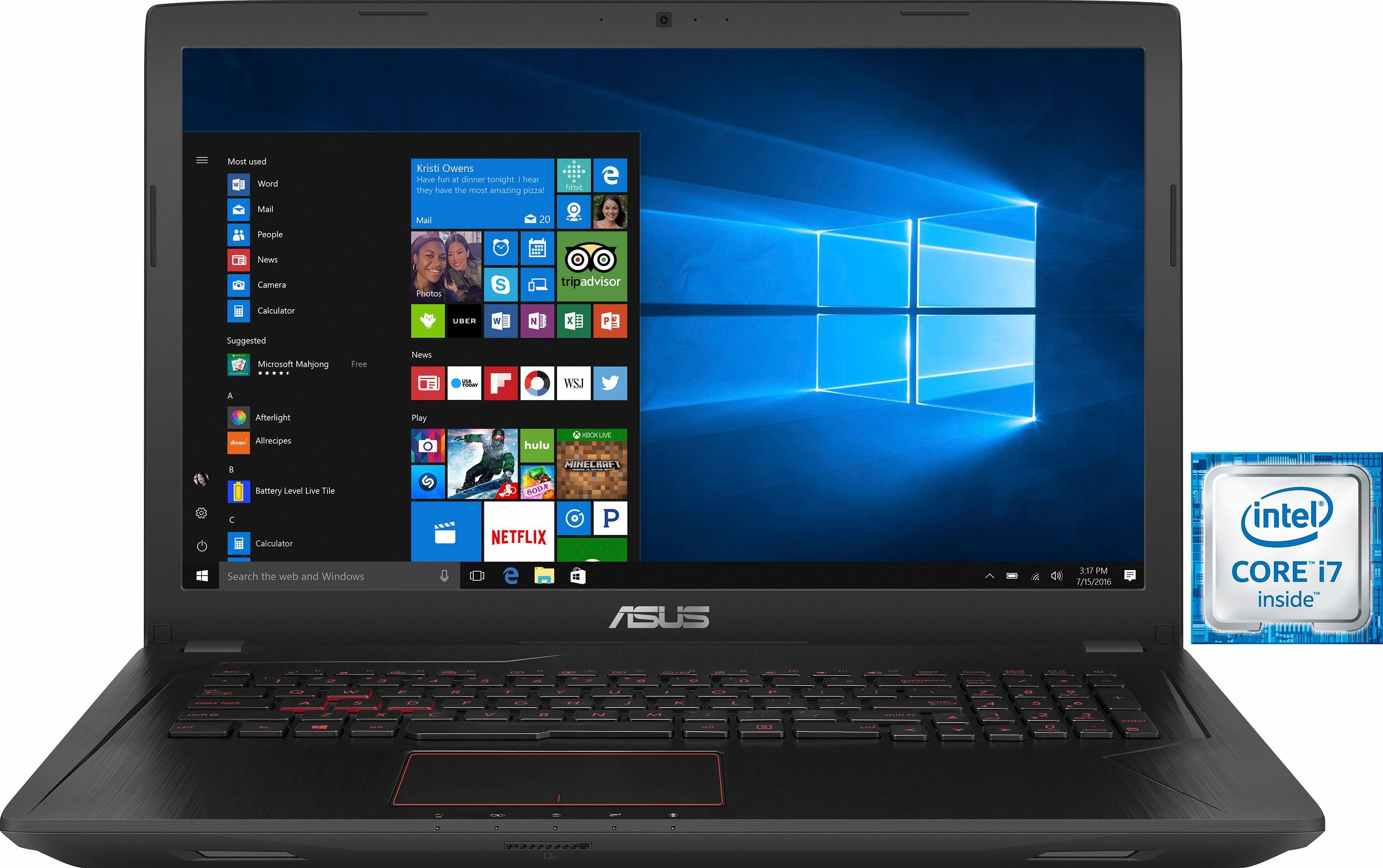 Asus FX753VE-GC108T Notebook, Intel® Core™ i7, 43,9 cm (17,3 Zoll), 1128 GB Speicher