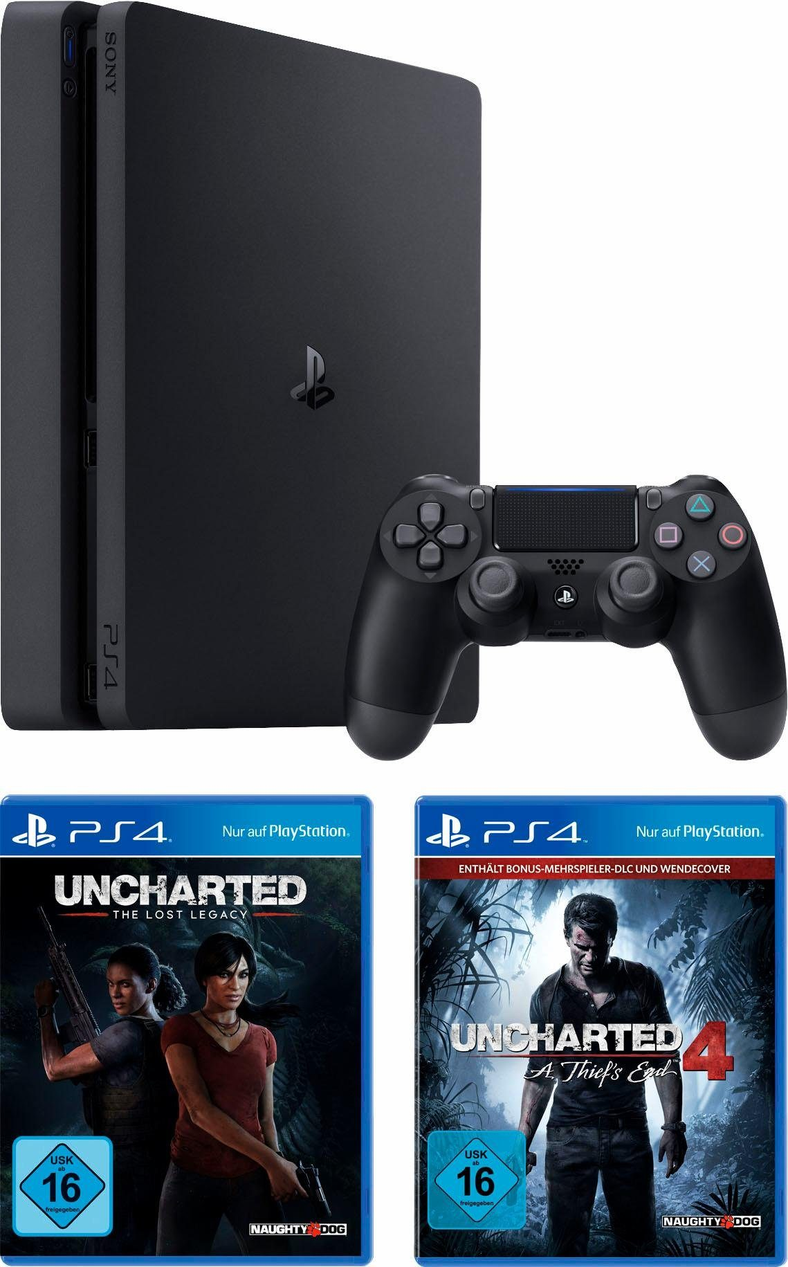 PlayStation 4 (PS4) 1TB + Uncharted Lost Legacy + Uncharted 4 Plus Edition