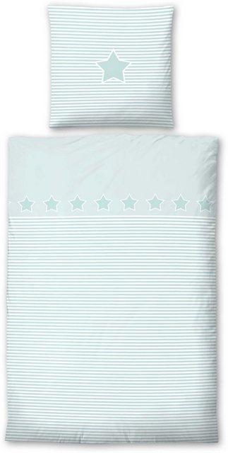 Kinderbettwäsche »Striped Star«, Biberna, mit Querstreifen & Motiv | Kinderzimmer > Textilien für Kinder > Kinderbettwäsche | Baumwolle | Biberna