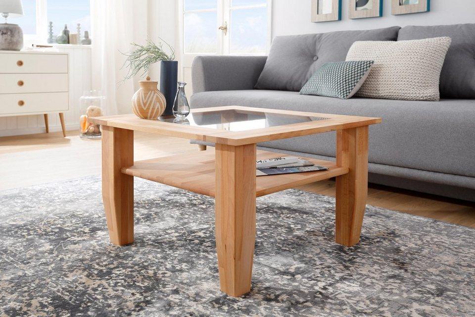 home affaire couchtisch sevilla mit glaseinsatz in der. Black Bedroom Furniture Sets. Home Design Ideas