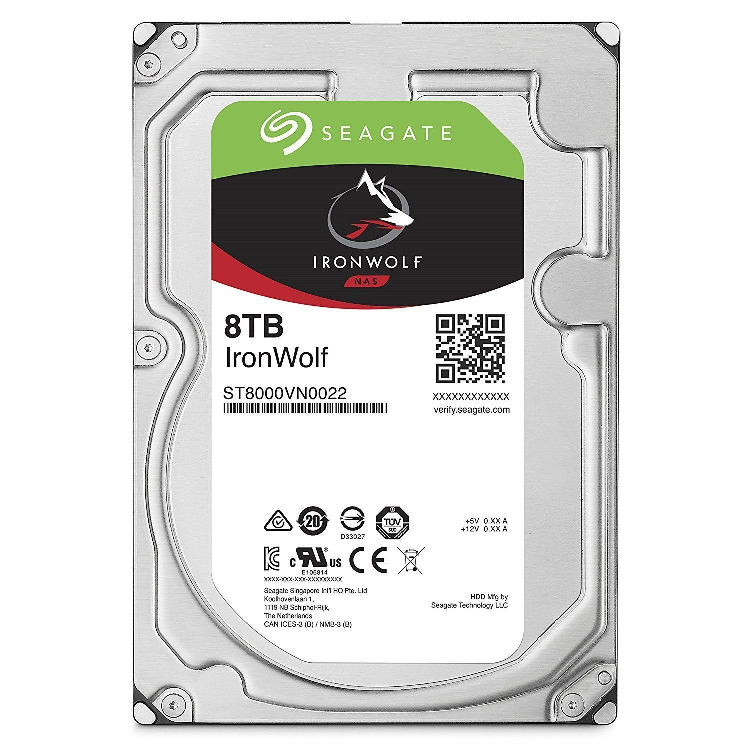 SEAGATE IronWolf NAS HDD 8 TB »ST8000VN0022«