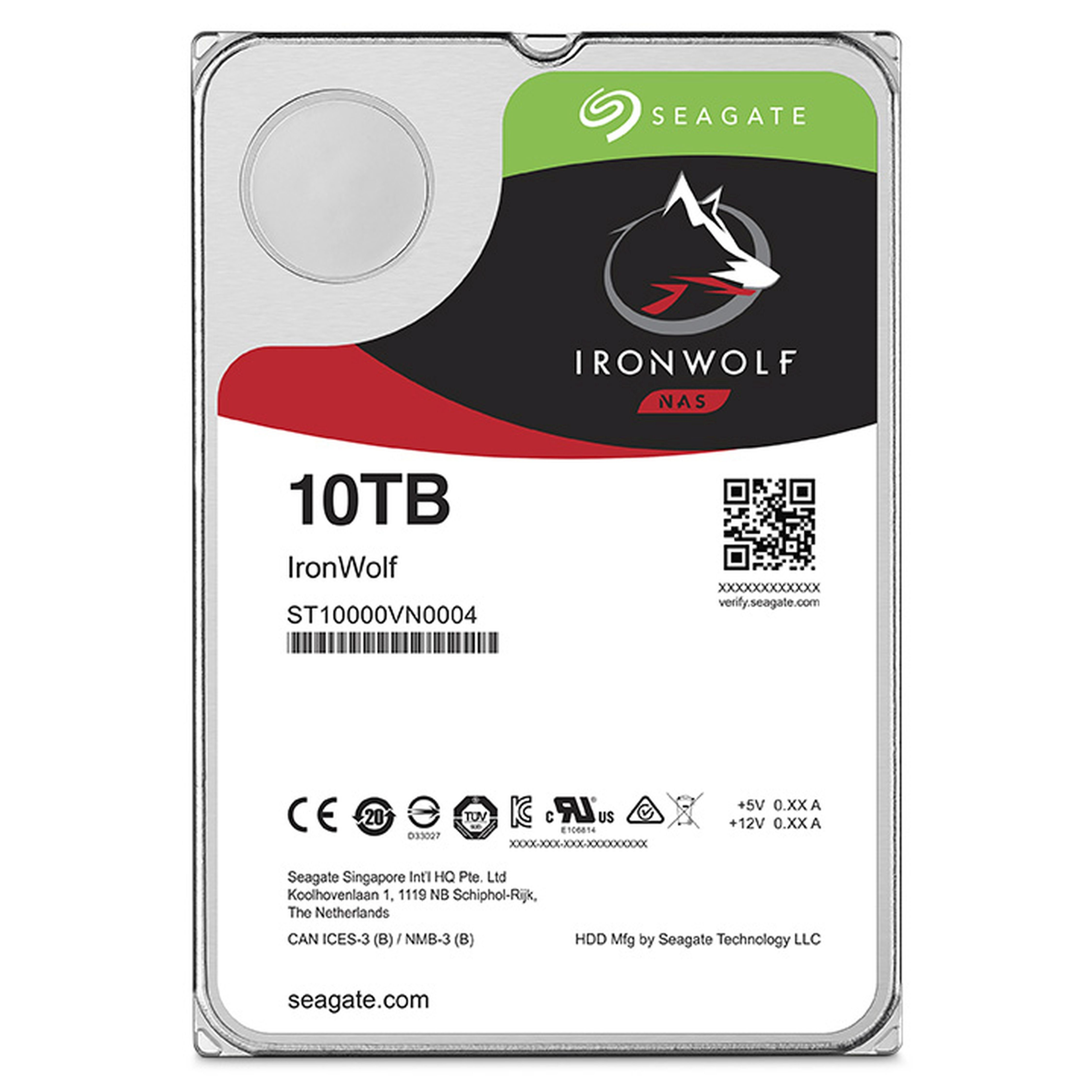 SEAGATE IronWolf NAS HDD 10TB »ST10000VN0004«