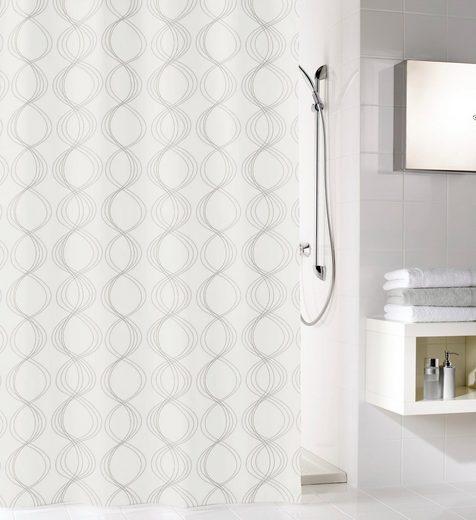 Kleine Wolke Duschvorhang »Classy« Breite 120 cm (1-tlg), weiß