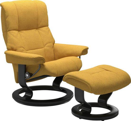 Stressless® Relaxsessel »Mayfair« (Set, 2-tlg., Relaxsessel mit Hocker), mit Hocker, mit Classic Base, Größe S, M & L, Gestell Schwarz