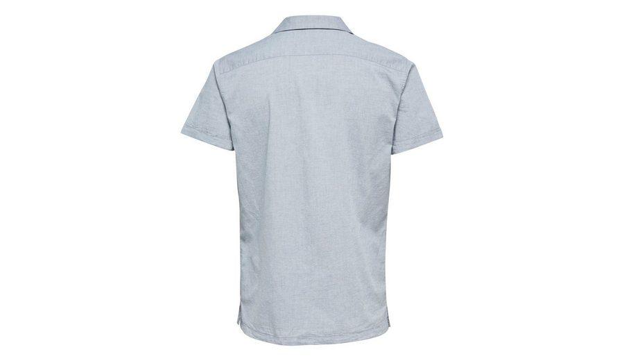 Selected Homme In regulärer Passform geschnittenes Kurzarmhemd Bester Großhandelsverkauf Online Billiger Fabrikverkauf JRGy7uU
