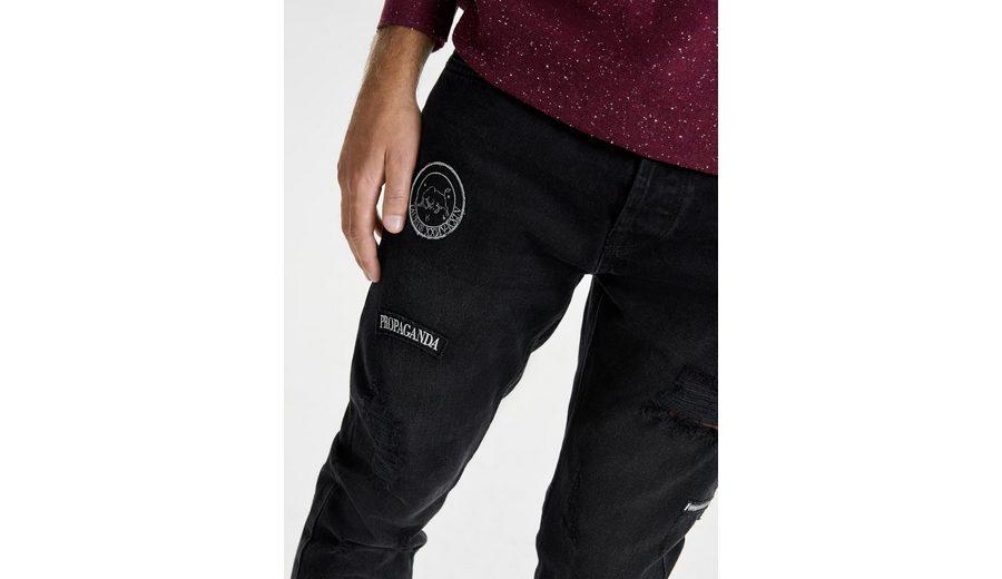 Sat Original Günstiger Preis ONLY & SONS Schwarze Carrot patch- Jeans wd7wE2w0