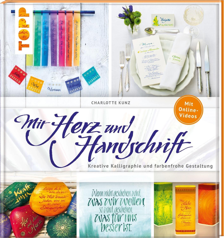 """Topp Buch """"Mit Herz und Handschrift - Kalligraphie"""" 96 Seiten"""