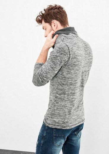 Q/S designed by Slub Yarn-Shirt mit Turtleneck