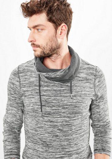 Q/S designed by Slub Yarn-Shirt mit Turtleneck
