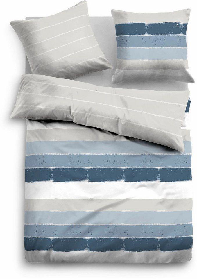 wendebettw sche funio tom tailor mit verschieden farbigen streifen online kaufen otto. Black Bedroom Furniture Sets. Home Design Ideas