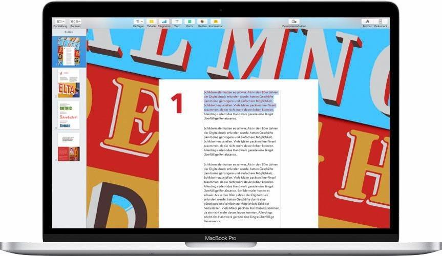 apple macbook pro mit touch bar 13 2 9 ghz 256 gb ssd. Black Bedroom Furniture Sets. Home Design Ideas