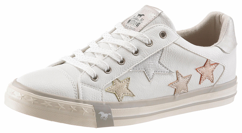 Mustang Shoes Sneaker, mit glitzernden Sternen, weiß, weiß